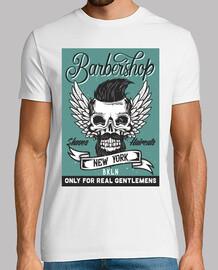 Camiseta BarberShop Vintage Skull Vintage Peluquería