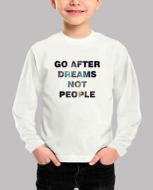 Camiseta bebé algodón unisex Go after dreams
