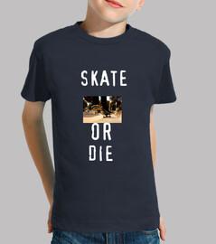 Camiseta bebé skate or die