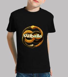 Camiseta bebe Valhalla negro