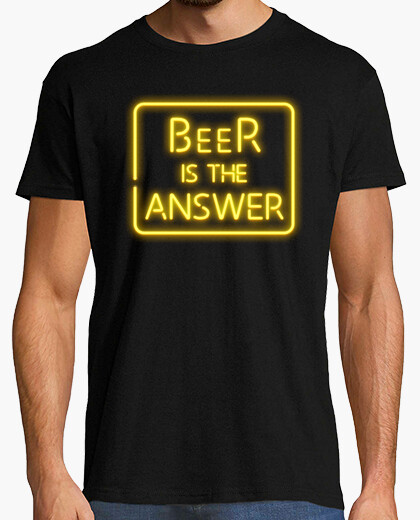 Camiseta Beer is the answer