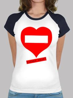 Camiseta beisbol chica Banned Heart
