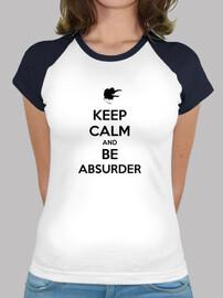 Camiseta béisbol chica 'KEEP CALM'
