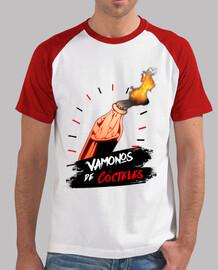 Camiseta béisbol cócteles