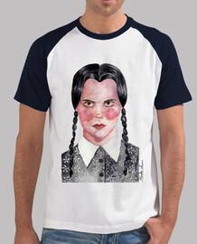 Camiseta beisbol hombre Miercoles Wednesday Addams