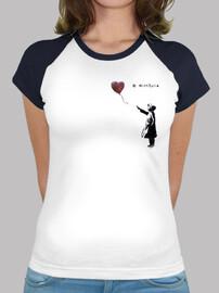 Camiseta beisbol para mujer - Bansky With Siria