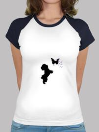 Camiseta bichon maltes y mariposas