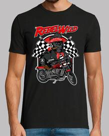 Camiseta Biker Gorila Motero Rockers Rockabilly Bikers Rebel Wild