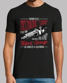 Camiseta Bikers Mecánicos Garage Vintage
