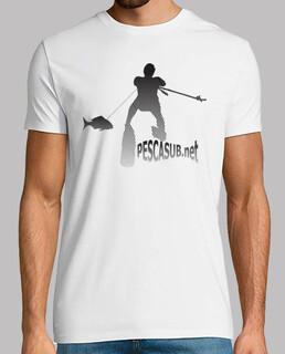 Camiseta blanca - Silueta negra
