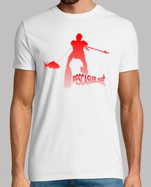 Camiseta blanca - Silueta roja