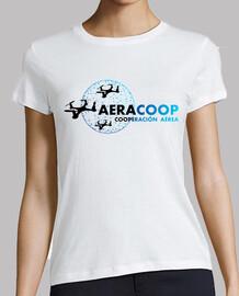 Camiseta blanca Aeracoop femenina. Ecológica