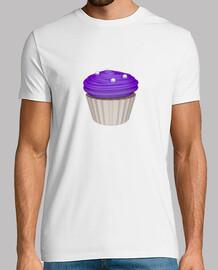 Camiseta blanca cupcake de arandanos