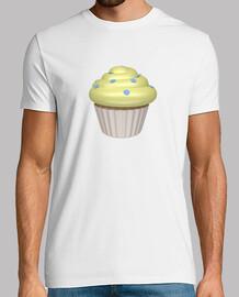Camiseta blanca cupcake de limón