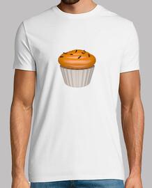 Camiseta blanca cupcake de naa y chocolate