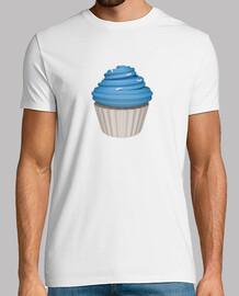 Camiseta blanca cupcake de uva