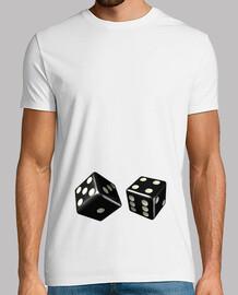 Camiseta blanca dados negros