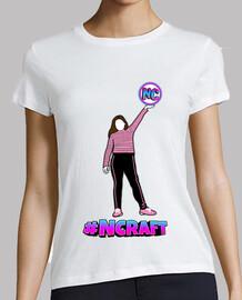 Camiseta blanca mujer #NCRAFT 2