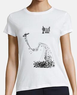 Camiseta Blanca Mujer Notas