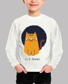 camiseta blanca niño niña cat lover