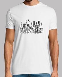 Camiseta blanca para chico con ilustración botellón