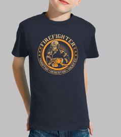 Camiseta Bombero Niño, manga corta, azul marino