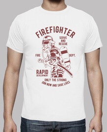 Camiseta Bombero Retro Vintage Firefighter