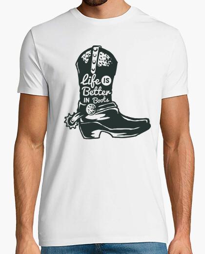 Camiseta Bota Cowboy Espuelas Wild West Retro Western Vintage Oeste