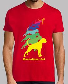 Camiseta Boxer multicolor