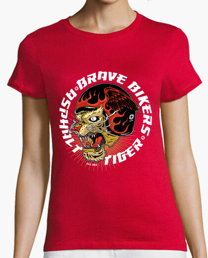 Camiseta Brave Bikers Asphalt Tiger Red