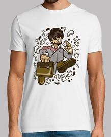 Camiseta Businessman Cartoon Juvenil