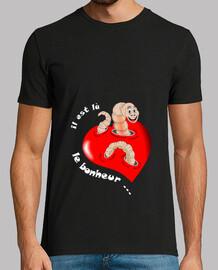 camiseta búsqueda felicidad blanco ver hombre