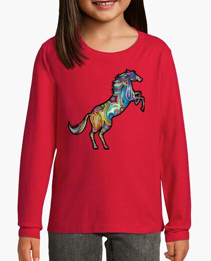 Ropa infantil Camiseta Caballo color M/L