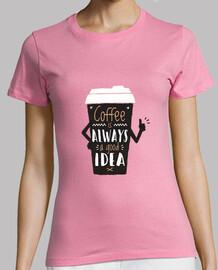 Camiseta café buena idea