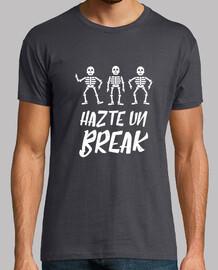 Camiseta calavera - Hazte un break swing