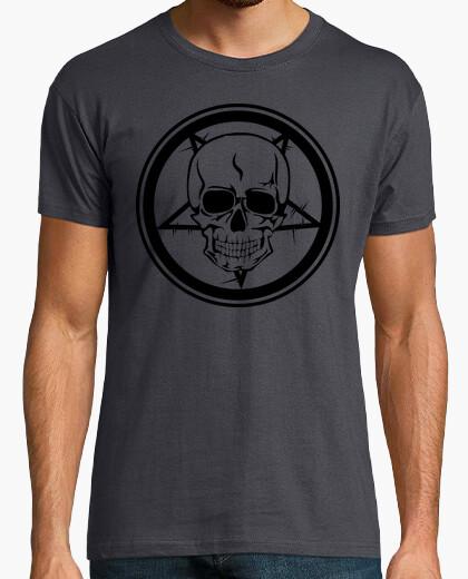 Camiseta Calavera satánica Terror horror...