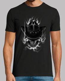 Camiseta Calaveras Cowboy con Sombrero