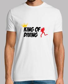 camiseta camisa de hombre de buceo, blanco, de alta calidad
