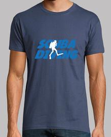 camiseta camisa de hombre de buceo, dril de algodón, de calidad superior