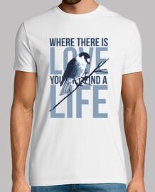 Camiseta Canario Pájaros Azul Mensaje