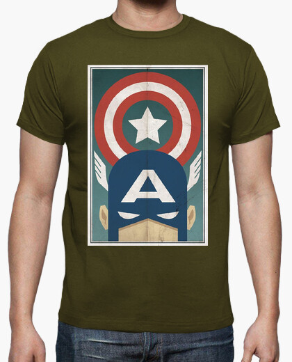 Camiseta Capitan America Comic Retro cine TV