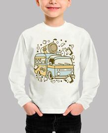 Camiseta Caravana Coffee Cartoon Retro
