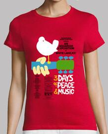 Camiseta Cartel Woodstock 1969 Oficial
