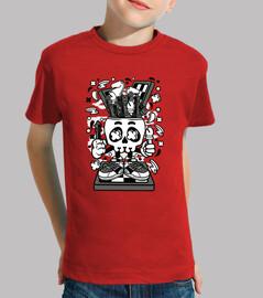 Camiseta Cartoon Ajedrez Skull Divertida
