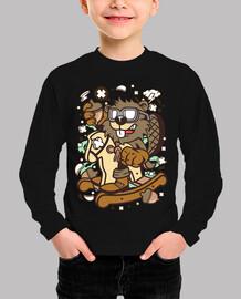 Camiseta Cartoon Animal Juvenil Castor