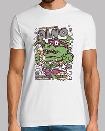 Camiseta Cartoon Divertida Dinosaurio Cereales