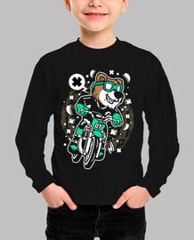 Camiseta Cartoon Divertido Bear Motocross