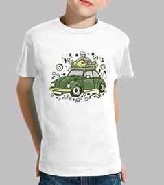 Camiseta Cartoon Juvenil Camping Coche