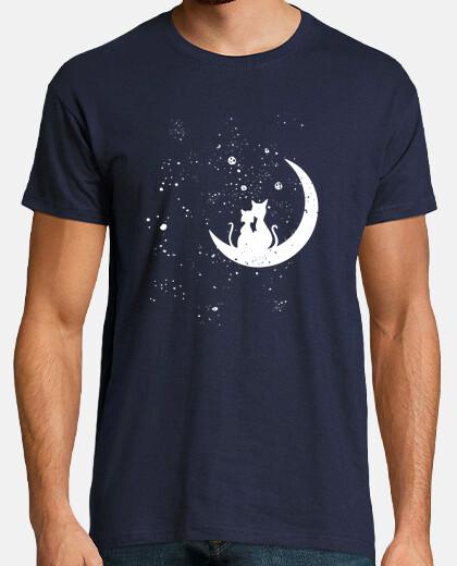 Camiseta Cat Moon Love