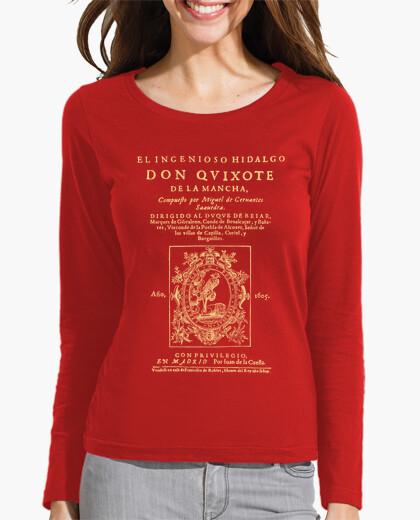 Camiseta Cervantes. Don Quijote (dark Tees)